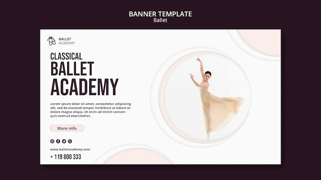 Шаблон баннера балета