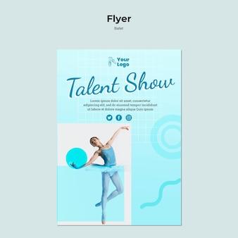 Ballet dancer flyer with photo
