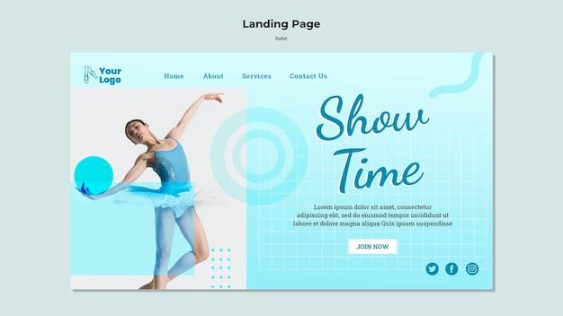Ballet dancer landing page template