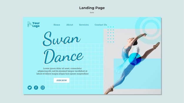 Ballet dancer landing page