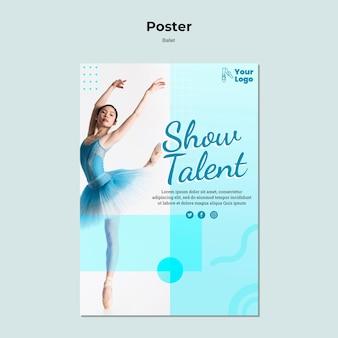 Ballet dancer poster template