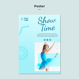 Ballet dancer poster with photo template