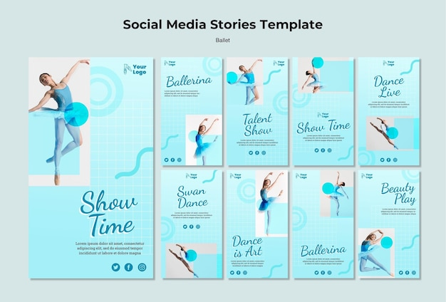 Ballet dancer social media stories