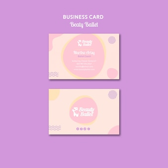 Ballet day business card template