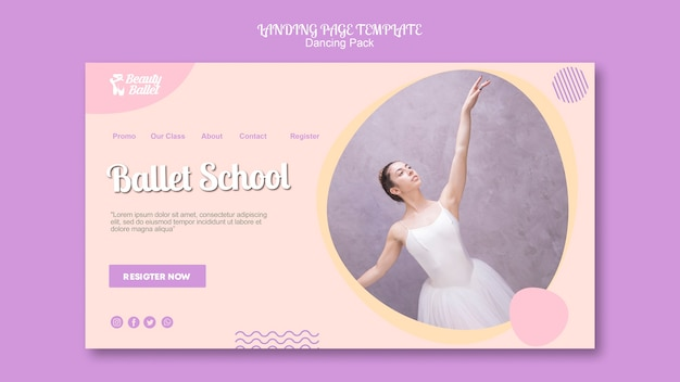 Ballet day landing page template