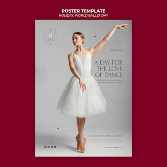 Ballet holiday poster template