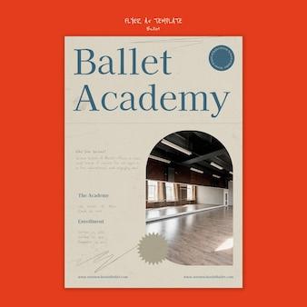 Ballet poster design template