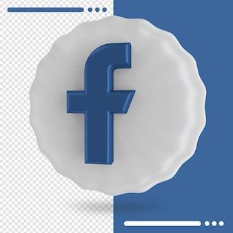 Воздушный шар и логотип facebook 3d-рендеринга