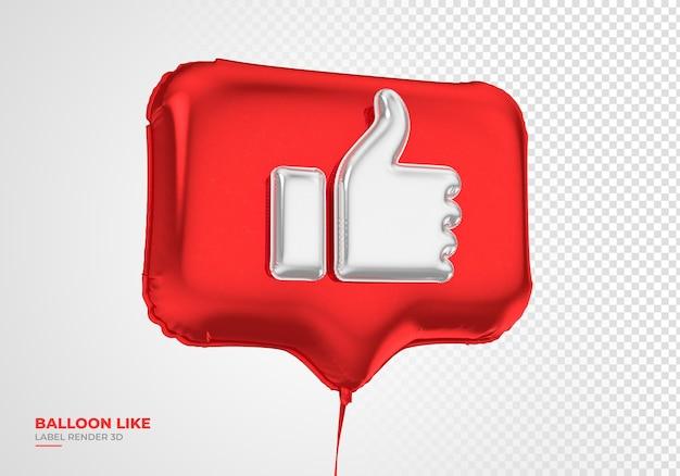 Значок воздушного шара, как instagram 3d визуализации в социальных сетях