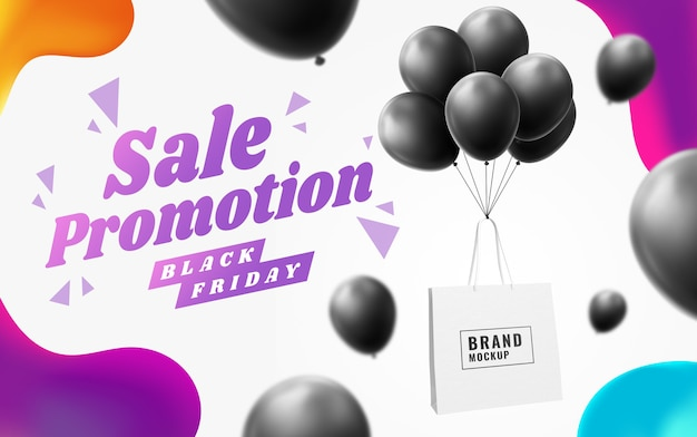 Воздушный шар сумка для покупок баннерная реклама