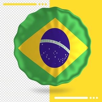 Balloon with brazil flag in 3d rendering