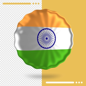 Balloon with india flag in 3d rendering