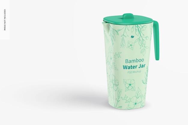 Bamboo fiber water jar mockup
