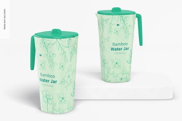 Bamboo fiber water jars mockup
