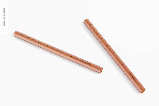 Мокап бамбуковых флейт