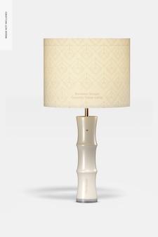 竹の形のセラミックテーブルランプのモックアップ