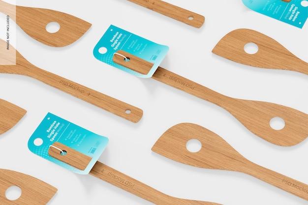 Бамбуковая ложка с одним отверстием, макет