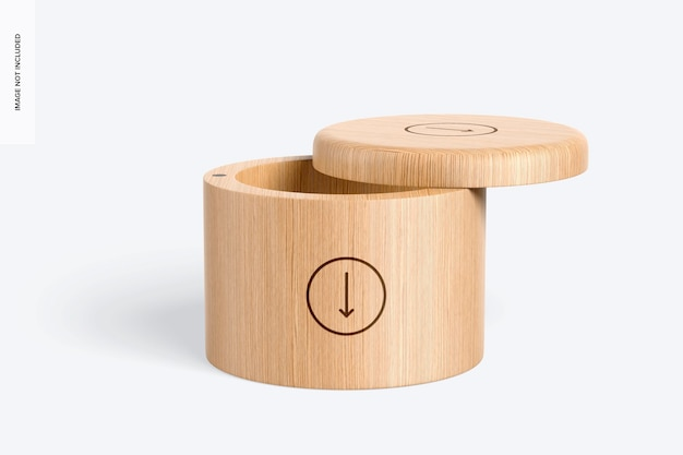 Bamboo spices container mockup