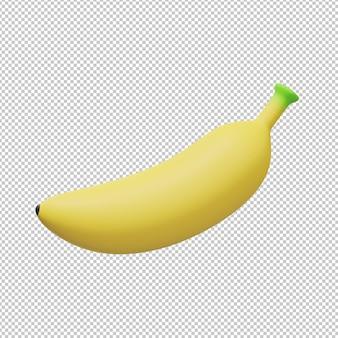 바나나 과일 3d 그림