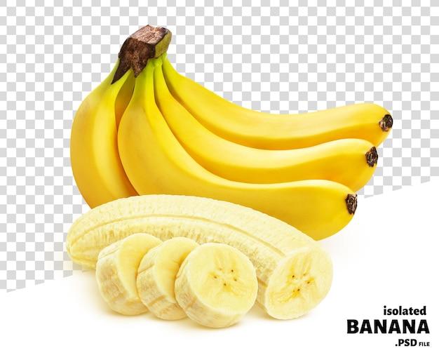 白い背景で隔離バナナ