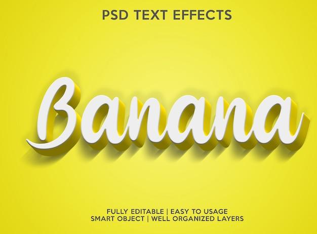 Банановый текстовый эффект