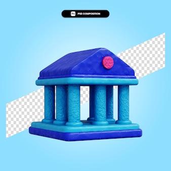 Банк 3d визуализации изолированных иллюстрация