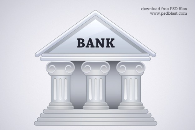 Bank building icon  psd