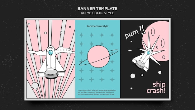 Banner anime comic style template
