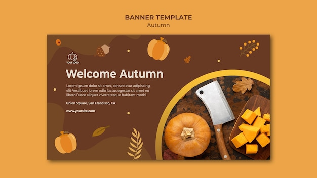 Banner autumn fest ad template