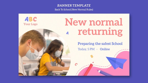 Banner back to school template
