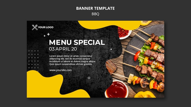 Banner for barbecue restaurant