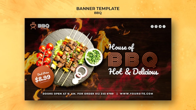 Banner for barbecue