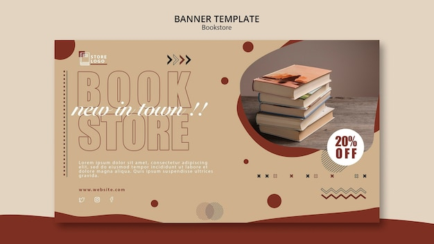 Banner bookstore ad template
