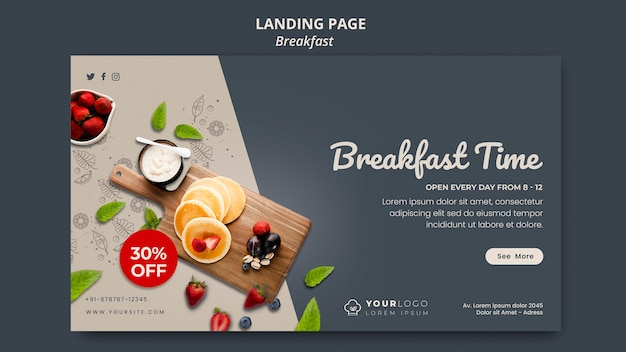 Banner breakfast time template