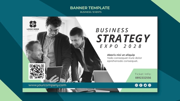 Banner for business expo