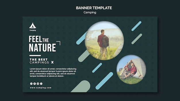 Banner camping place template