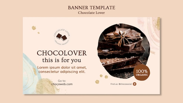 バナーチョコレート愛好家のテンプレート