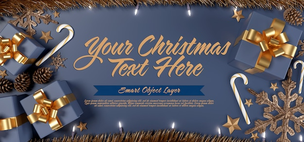 Banner of a christmas scene