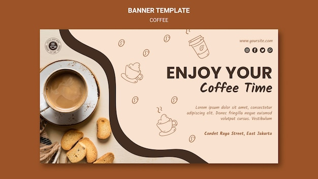 배너 커피 숍 광고 템플릿