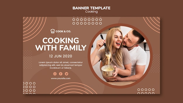 Banner cooking at home template