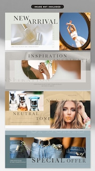 Banner in cosmetic and fashion theme
