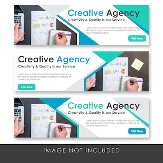 Banner creative agency collection template