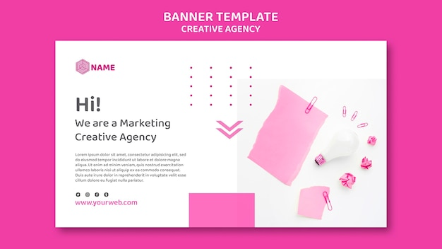 Banner creative agency template