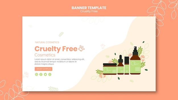 Banner cruelty free products template