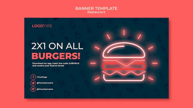 Banner delivery restaurant template