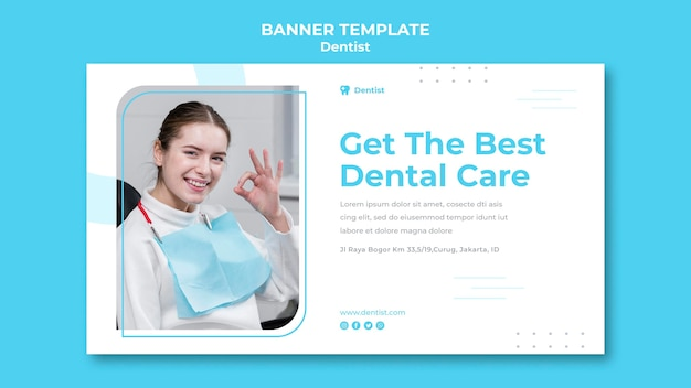 Banner dentist ad template