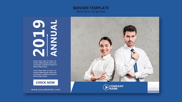 Banner design for business template