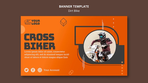 Banner dirt bike ad template