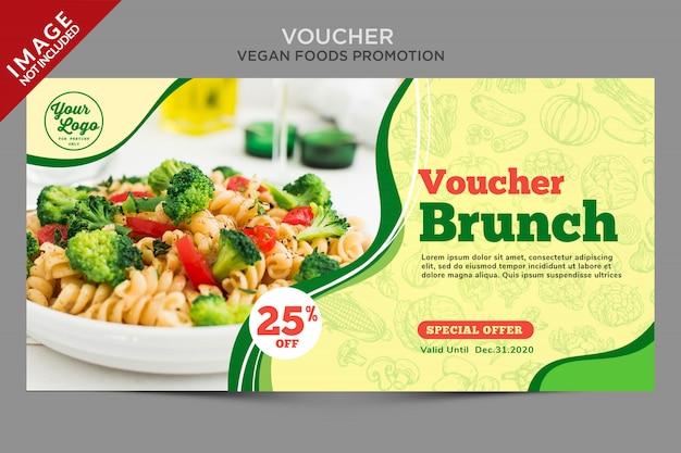 Banner discount voucher burger template