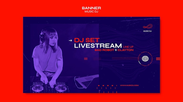 Banner dj set livestream ad template